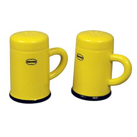 Retro Salt & Pepper Shaker Set (Colour: Mustard)... Mmmmmm-Nook & Cranny Gift Store-2019 National Gift Store Of The Year-Ireland-Gift Shop