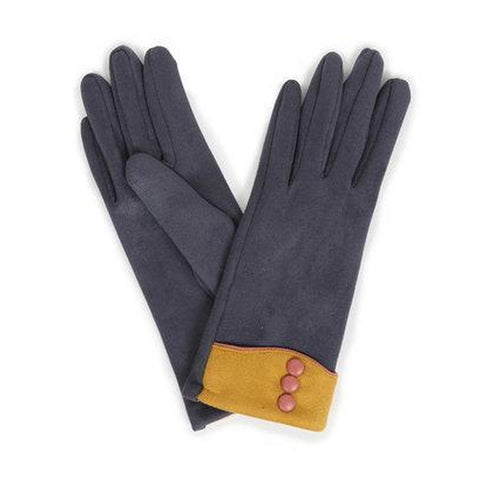 Cassie Faux Suede Gloves in Charcoal-Nook and Cranny - 2019 REI National Gift Store of the Year