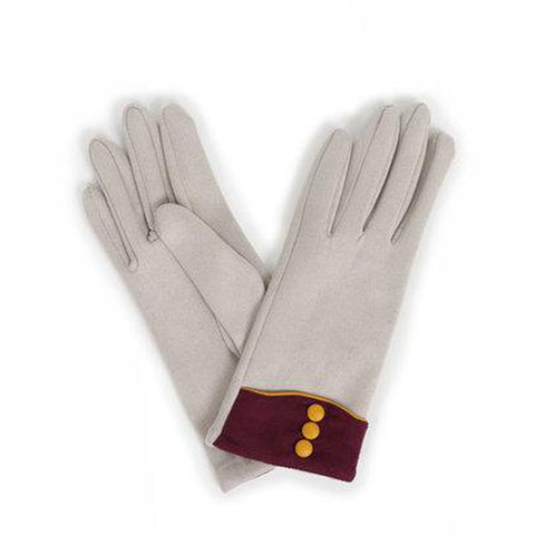 Cassie Faux Suede Gloves in Pale Grey-Nook and Cranny - 2019 REI National Gift Store of the Year