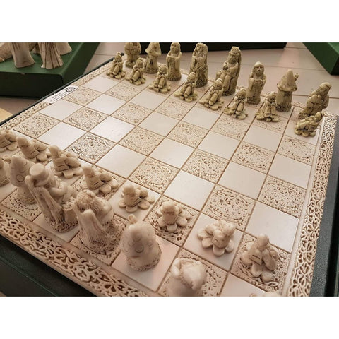 Celtic Chess Set - with 32 Counties etched from the limestone tiles-Nook and Cranny - 2019 REI National Gift Store of the Year