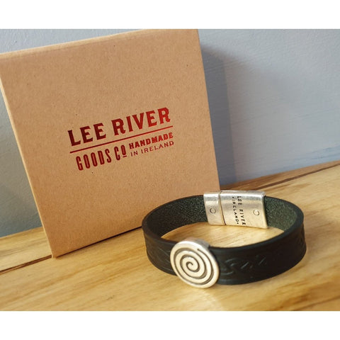 Celtic Leather Cuff - Black Colour-Nook and Cranny - 2019 REI National Gift Store of the Year
