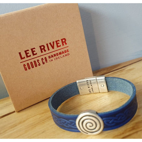 Celtic Leather Cuff - Blue Colour-Nook and Cranny - 2019 REI National Gift Store of the Year