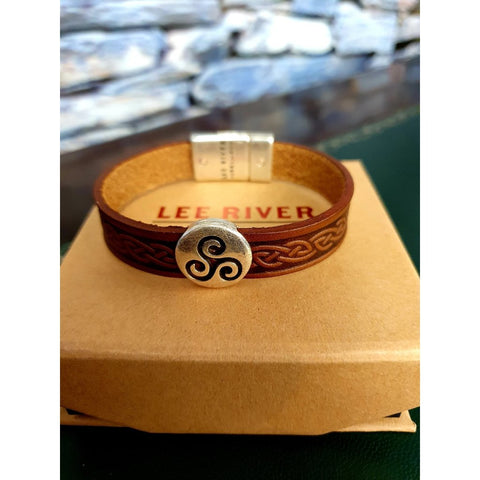 Celtic Leather Cuff - Brown Colour-Nook and Cranny - 2019 REI National Gift Store of the Year