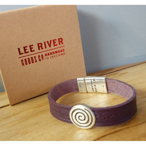 Celtic Leather Cuff - Purple Colour-Nook and Cranny - 2019 REI National Gift Store of the Year