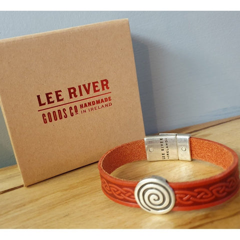 Celtic Leather Cuff - Red Colour-Nook and Cranny - 2019 REI National Gift Store of the Year