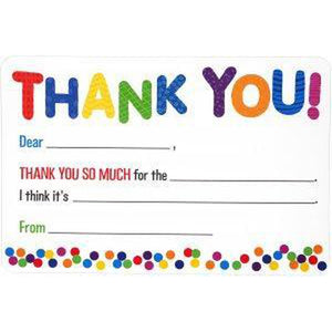 Childrens fill-in thank you notes - Box of 20 cards & 21 envelopes-Nook and Cranny - 2019 REI National Gift Store of the Year