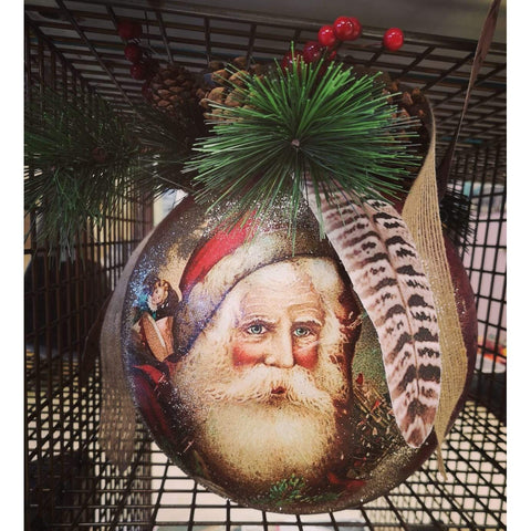 Classic Christmas Santa Bauble- Large Red-Nook and Cranny - 2019 REI National Gift Store of the Year