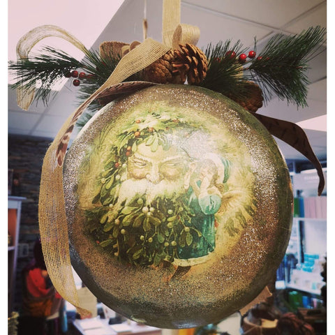 Classic Christmas Santa Bauble - Large Size-Green-Nook and Cranny - 2019 REI National Gift Store of the Year