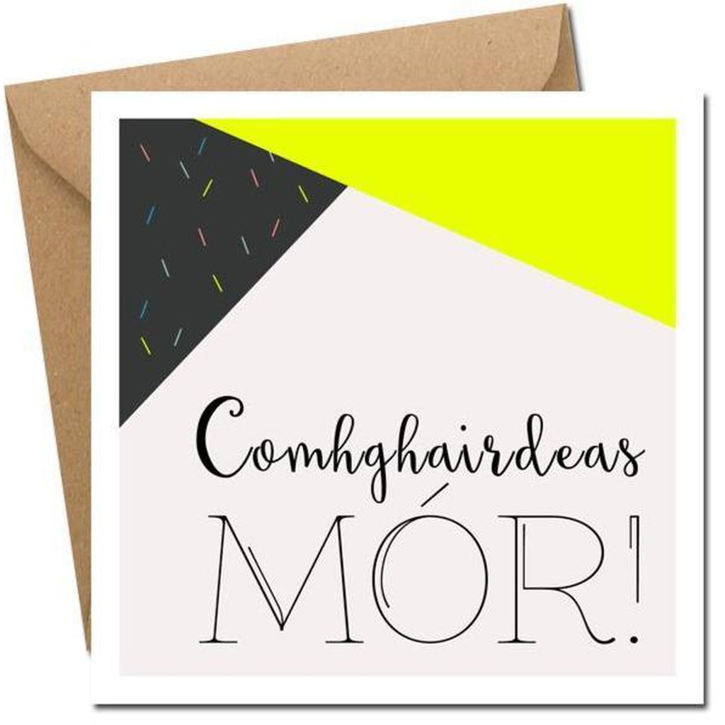 Comhghairdeas Mor! - Card (Big Congratulations in Irish)-Nook and Cranny - 2019 REI National Gift Store of the Year