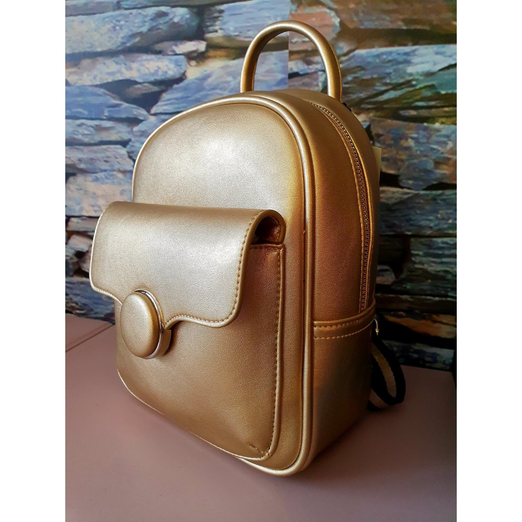 Compact Gold Bag / Backpack - 1125-Nook & Cranny Gift Store-2019 National Gift Store Of The Year-Ireland-Gift Shop