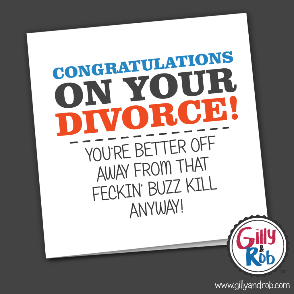 Congratulations on your divorce ... card-Nook & Cranny Gift Store-2019 National Gift Store Of The Year-Ireland-Gift Shop