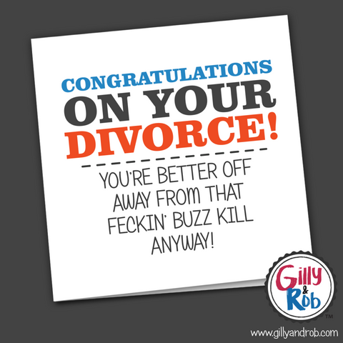 Congratulations on your divorce ... card-Nook and Cranny - 2019 REI National Gift Store of the Year