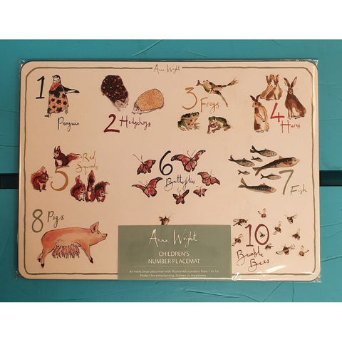 Counting Numbers Placemat for Children-Nook and Cranny - 2019 REI National Gift Store of the Year