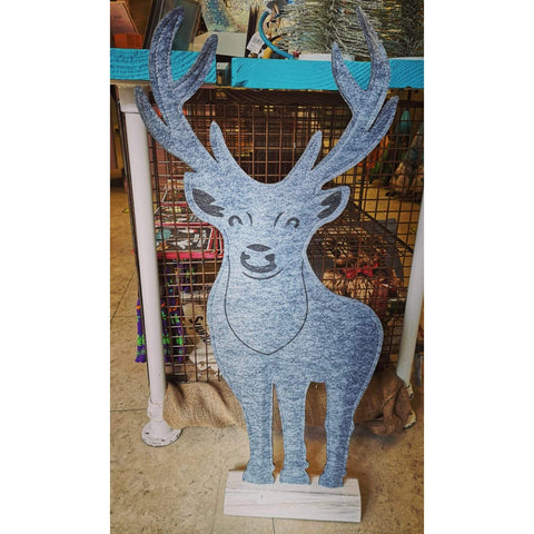 Deer Grey Felt Decoration-Nook & Cranny Gift Store-2019 National Gift Store Of The Year-Ireland-Gift Shop