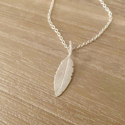 Feathers Appear Sterling Silver Necklace - Made in Laois!-Nook and Cranny - 2019 REI National Gift Store of the Year
