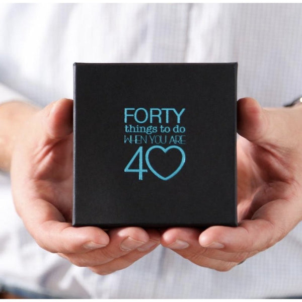 Forty things to do when you are 40 - Inspiring Activities Gift Box-Nook & Cranny Gift Store-2019 National Gift Store Of The Year-Ireland-Gift Shop