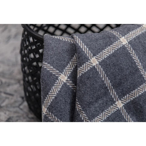 Foxford Cashmere Throw - Grey & Bone Windowpane-Nook and Cranny - 2019 REI National Gift Store of the Year