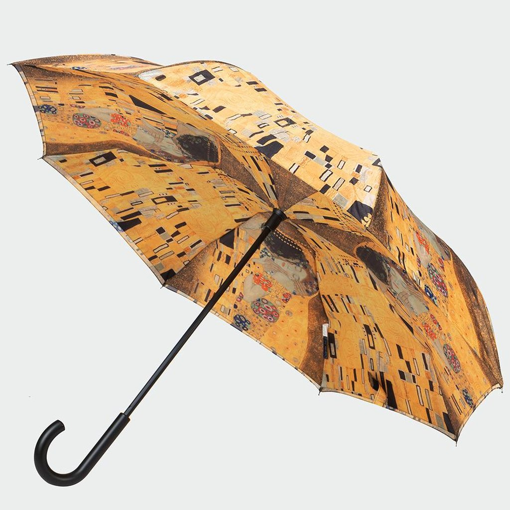 Galleria Gustav Klimt The Kiss - Reverse Closing Stick Umbrella-Nook and Cranny - 2019 REI National Gift Store of the Year