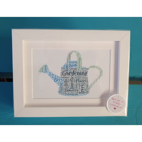 Gardening: Have anyone seen the watering can?.... Framed Irish Print-Nook and Cranny - 2019 REI National Gift Store of the Year