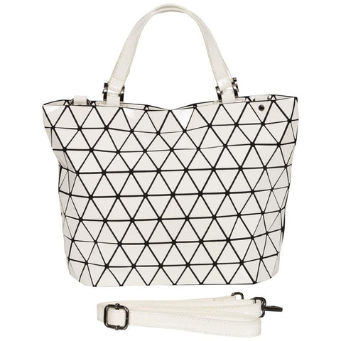 Geometrical Bag - Large (White Gloss finish)-Nook and Cranny - 2019 REI National Gift Store of the Year