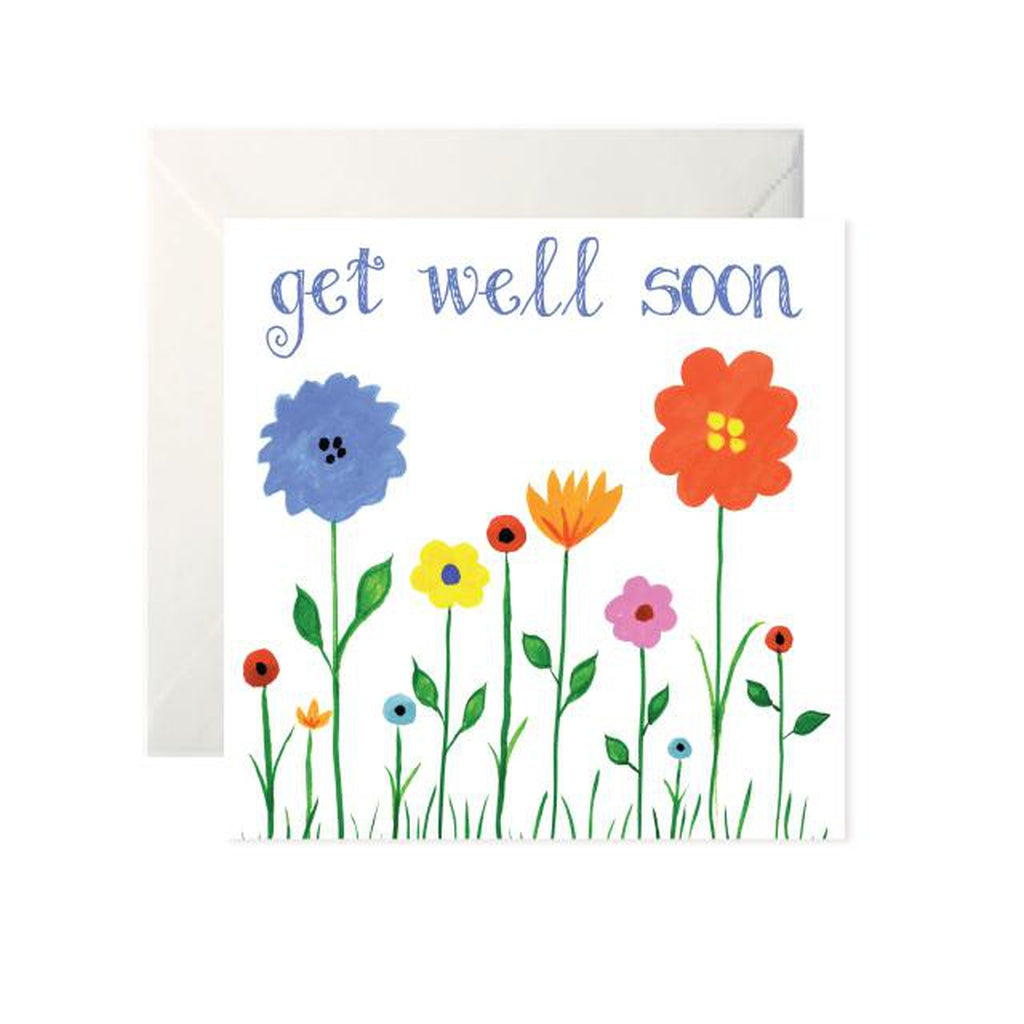 Get Well Soon Flowers Card-Nook & Cranny Gift Store-2019 National Gift Store Of The Year-Ireland-Gift Shop