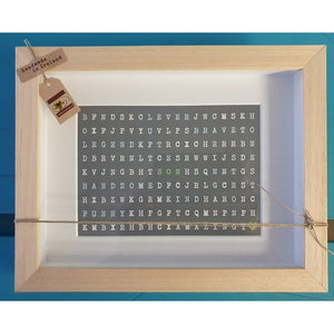 Gift for A Son .... Kind Amazing Funny .... Handcrafted Irish wordsearch Frame-Nook & Cranny Gift Store-2019 National Gift Store Of The Year-Ireland-Gift Shop
