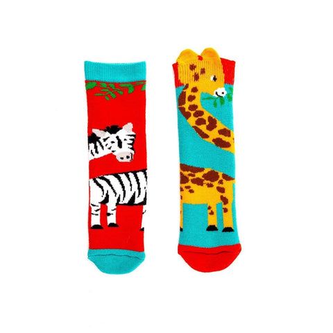 Giraffe and Zebra Welly Socks Aged 3-6 years-Nook and Cranny - 2019 REI National Gift Store of the Year