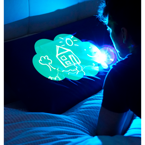 Glow in the Dark Sketch Pillowcase - Cloud Design-Nook and Cranny - 2019 REI National Gift Store of the Year