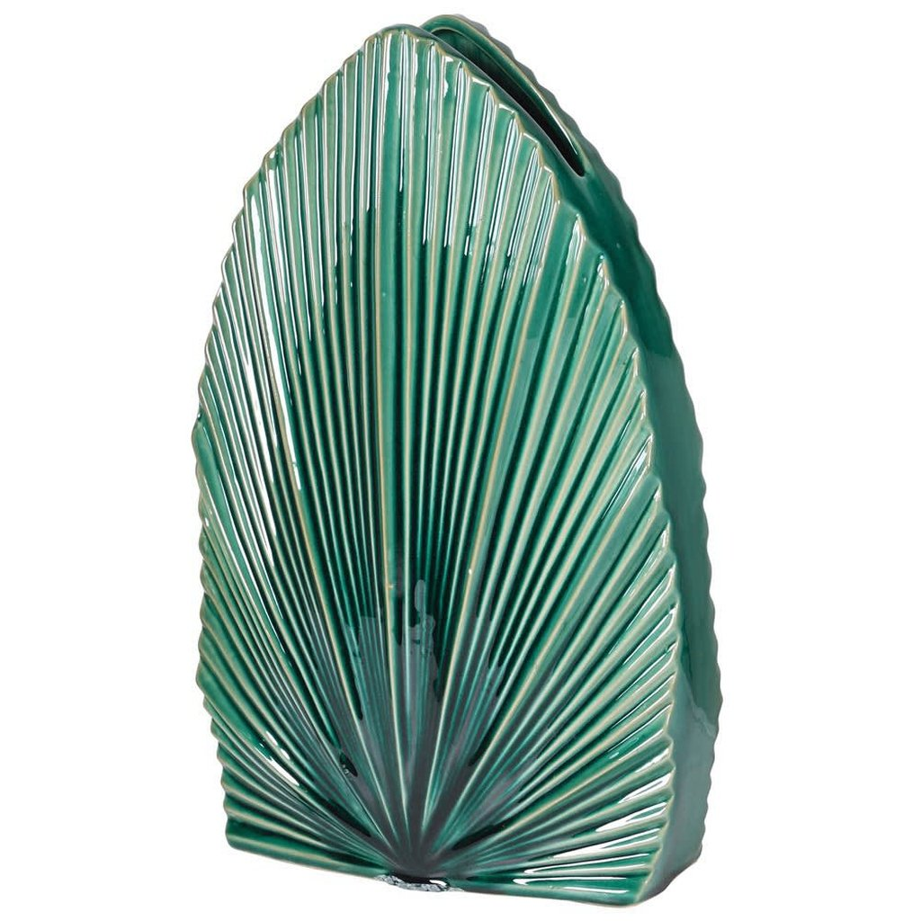 Green Fan Palm Vase-Nook and Cranny - 2019 REI National Gift Store of the Year