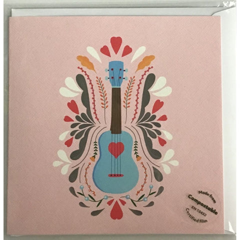 Guitar pink - card-Nook & Cranny Gift Store-2019 National Gift Store Of The Year-Ireland-Gift Shop