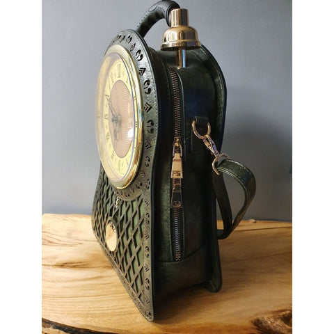 Hand Bag w/ Clock - Olive Green-Nook and Cranny - 2019 REI National Gift Store of the Year