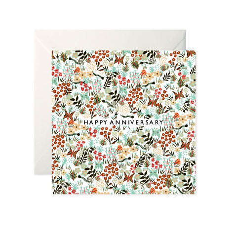 Happy Anniversary Floral Card-Nook & Cranny Gift Store-2019 National Gift Store Of The Year-Ireland-Gift Shop