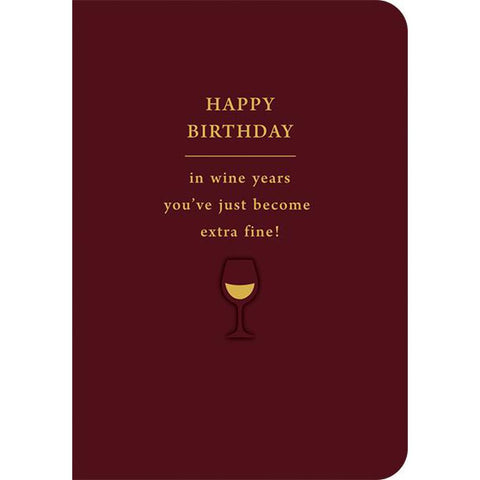 Happy Birthday - In Wine Years-Nook & Cranny Gift Store-2019 National Gift Store Of The Year-Ireland-Gift Shop