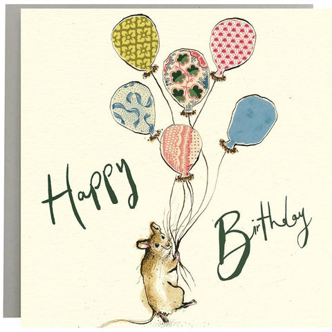 Happy Birthday Mouse with Balloons - Card-Nook and Cranny - 2019 REI National Gift Store of the Year