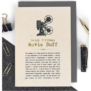 Happy Birthday - Movie Buff Card-Nook and Cranny - 2019 REI National Gift Store of the Year