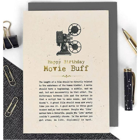 Happy Birthday - Movie Buff Card-Nook & Cranny Gift Store-2019 National Gift Store Of The Year-Ireland-Gift Shop