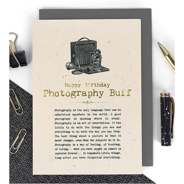 Happy Birthday - Photography Buff Card-Nook and Cranny - 2019 REI National Gift Store of the Year