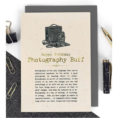 Happy Birthday - Photography Buff Card-Nook & Cranny Gift Store-2019 National Gift Store Of The Year-Ireland-Gift Shop