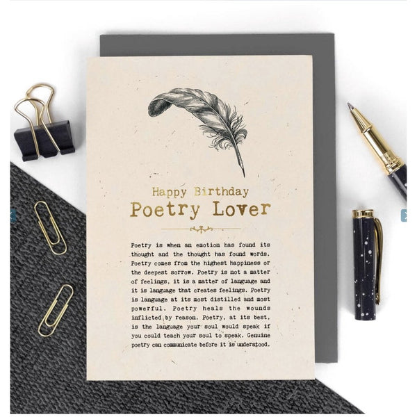 Happy Birthday - Poetry Lover Card-Nook and Cranny - 2019 REI National Gift Store of the Year
