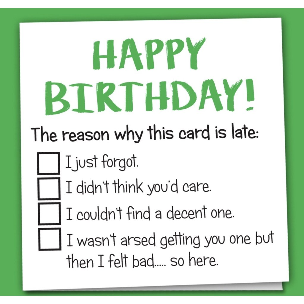 Happy Birthday - Reason why...card-Nook & Cranny Gift Store-2019 National Gift Store Of The Year-Ireland-Gift Shop