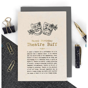 Happy Birthday - Theatre Buff Card-Nook & Cranny Gift Store-2019 National Gift Store Of The Year-Ireland-Gift Shop