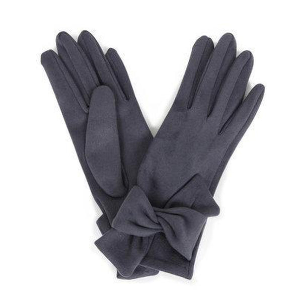 Henrietta Faux Suede Gloves in Charcoal-Nook & Cranny Gift Store-2019 National Gift Store Of The Year-Ireland-Gift Shop