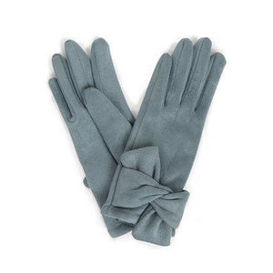 Henrietta Faux Suede Gloves in Denim-Nook and Cranny - 2019 REI National Gift Store of the Year