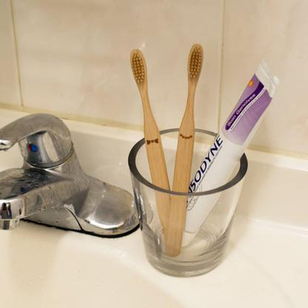 His & Hers Bamboo Toothbrush Pair-Nook and Cranny - 2019 REI National Gift Store of the Year