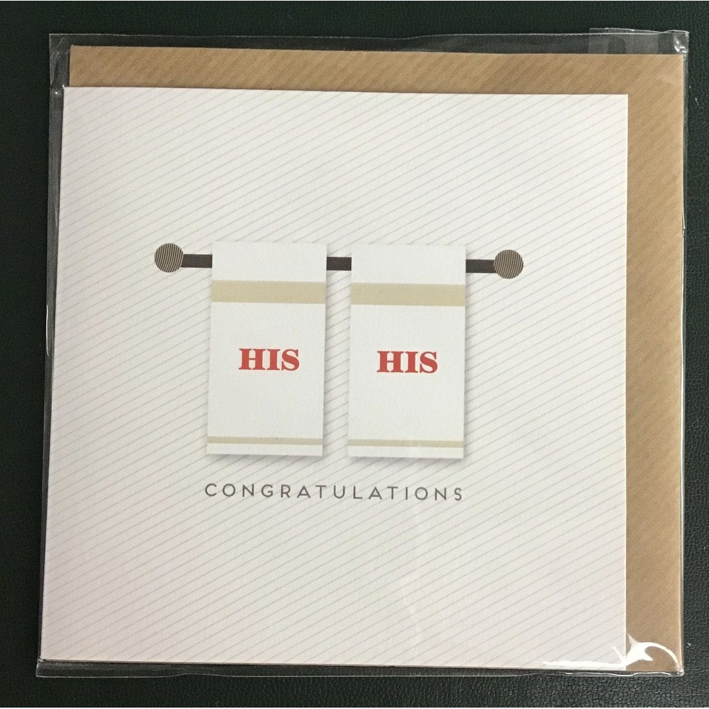His & His Congratulations - Card-Nook & Cranny Gift Store-2019 National Gift Store Of The Year-Ireland-Gift Shop
