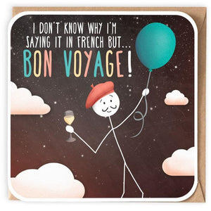 I don't know why I'm saying it in French but...Bon Voyage...card-Nook and Cranny - 2019 REI National Gift Store of the Year