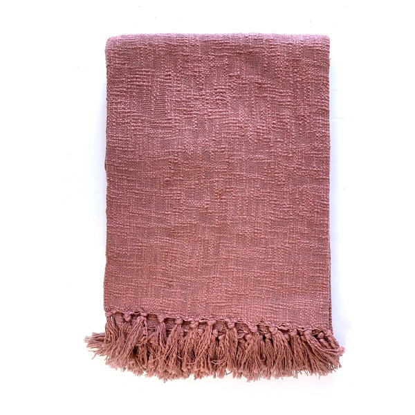 Dusky Pink Throw-Nook & Cranny Gift Store-2019 National Gift Store Of The Year-Ireland-Gift Shop