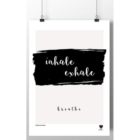 Inhale, Exhale... (A4 mounted print)-Nook and Cranny - 2019 REI National Gift Store of the Year