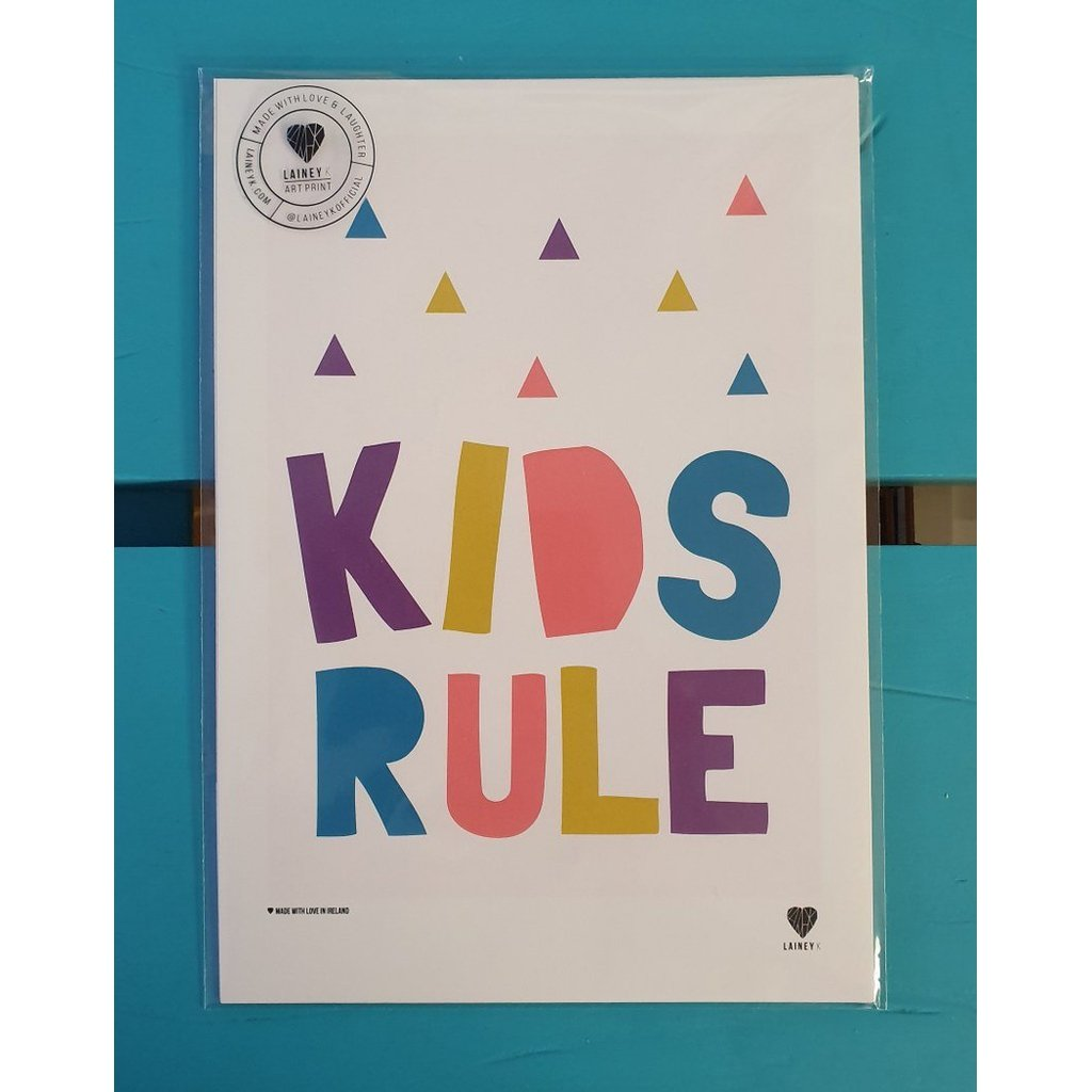 Kids rule!.. (A4 mounted print)-Nook and Cranny - 2019 REI National Gift Store of the Year