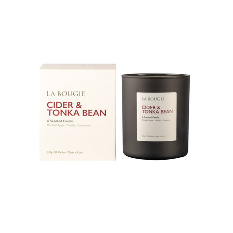 La Bougie - Cider & Tonka Bean Candle-Nook & Cranny Gift Store-2019 National Gift Store Of The Year-Ireland-Gift Shop
